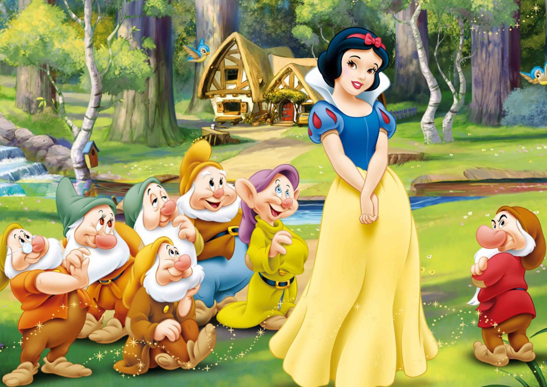 SNOW WHITE 7 DWARFS Disney Poster Picture Print Sizes A5 to A0 **FREE DELIVERY