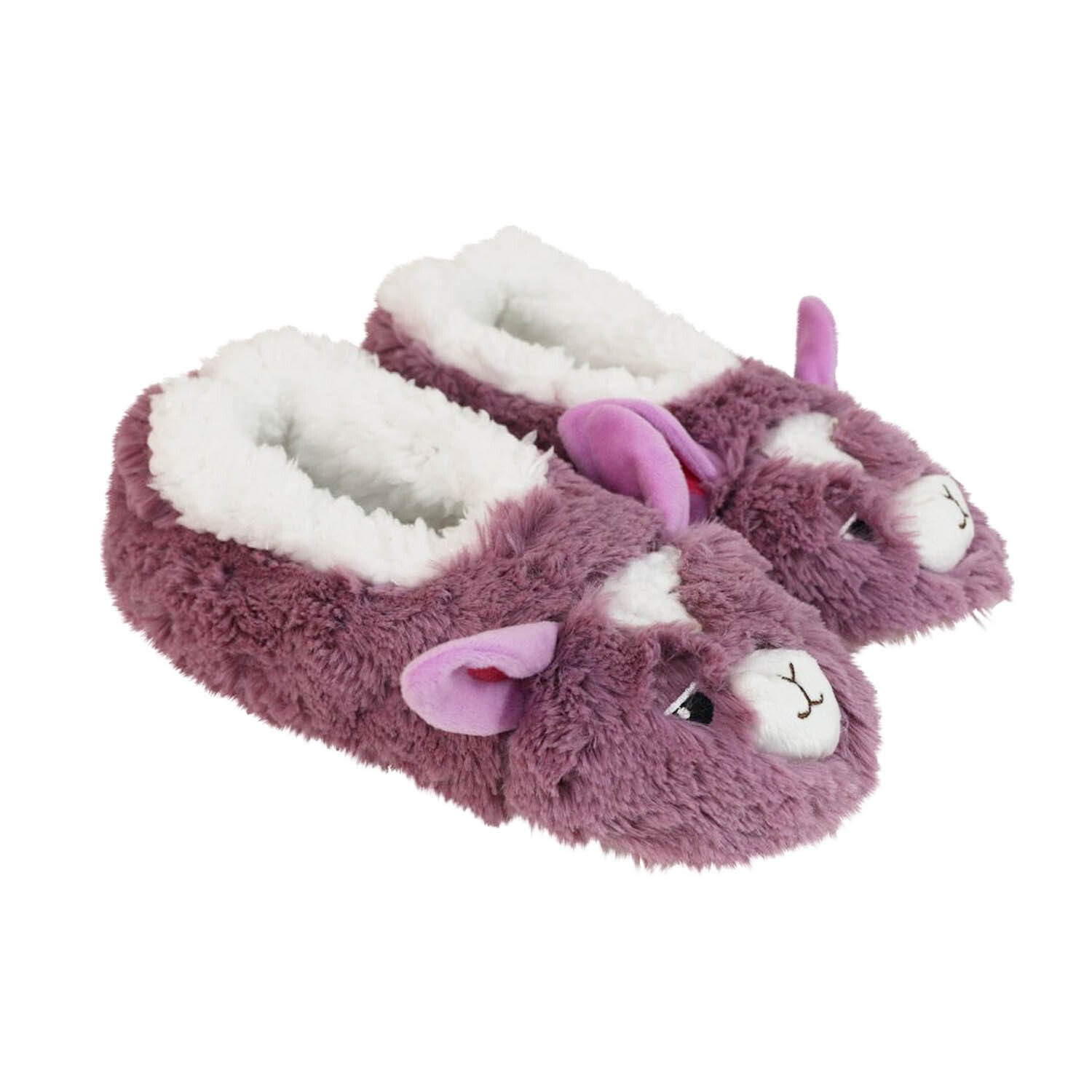 SLUMBIES-FURRY-FOOT-PALS-CRITTERS-Women-039-s-Soft-Slippers-Socks-Non-Slip-NEW thumbnail 6