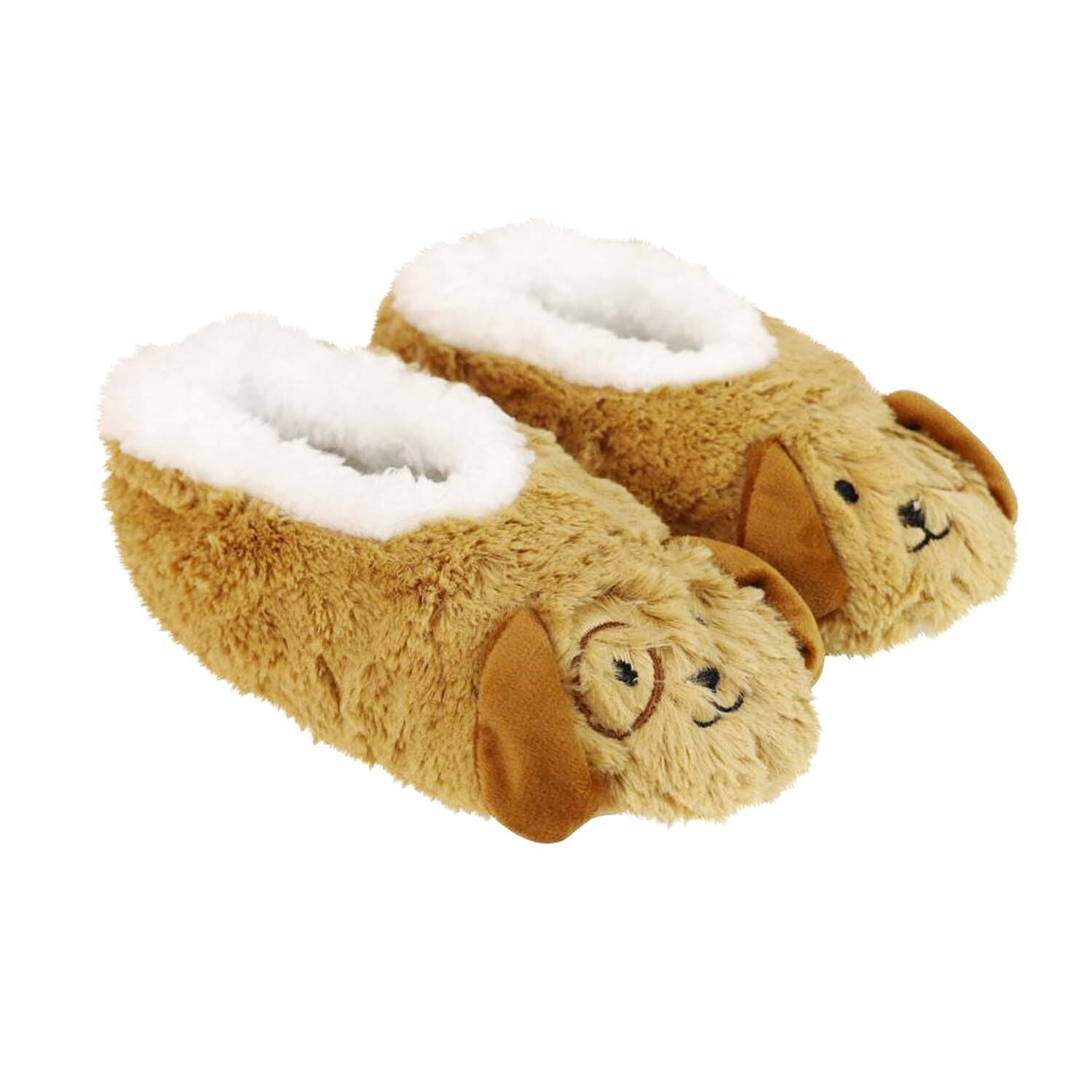 SLUMBIES-FURRY-FOOT-PALS-CRITTERS-Women-039-s-Soft-Slippers-Socks-Non-Slip-NEW thumbnail 9